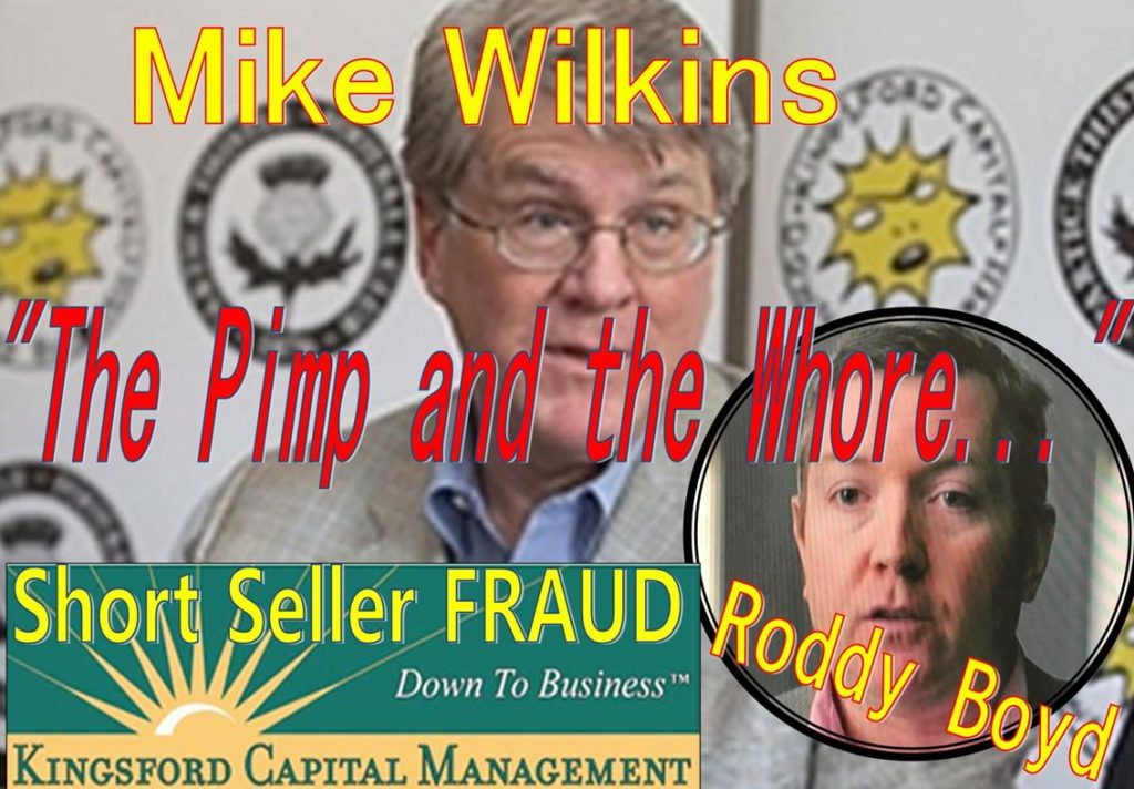 Mike Wilkins, KIngsford Capital Management, Roddy Boyd, Herb Greenberg, Samantha Boyd, Bloomberg, Short seller, fraud, Southern Investigative Reporting Foundation