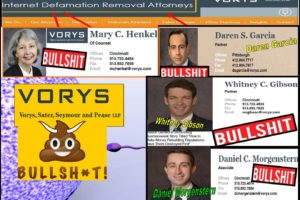 Internet Defamation Removal Attorneys, Vorys Sater Seymour Ohio Lawyers Are Online Fakers